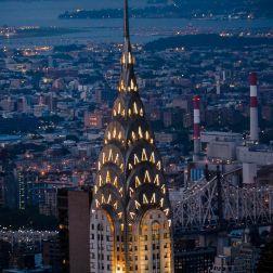 La cúpula del Chrysler Building, otro de los íconos de la ciudad.