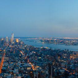 Panorámica del lado sur de Manhattan, el Hudson y New Jersey.