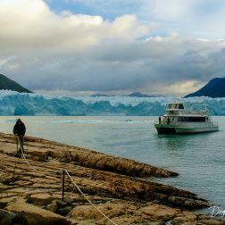Punto de embarque para poder hacer las excursiones al glaciar.
