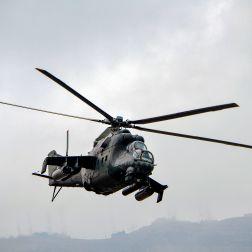 Helicóptero de ataque de la Fuerza Aérea del Perú, de fabricación rusa.