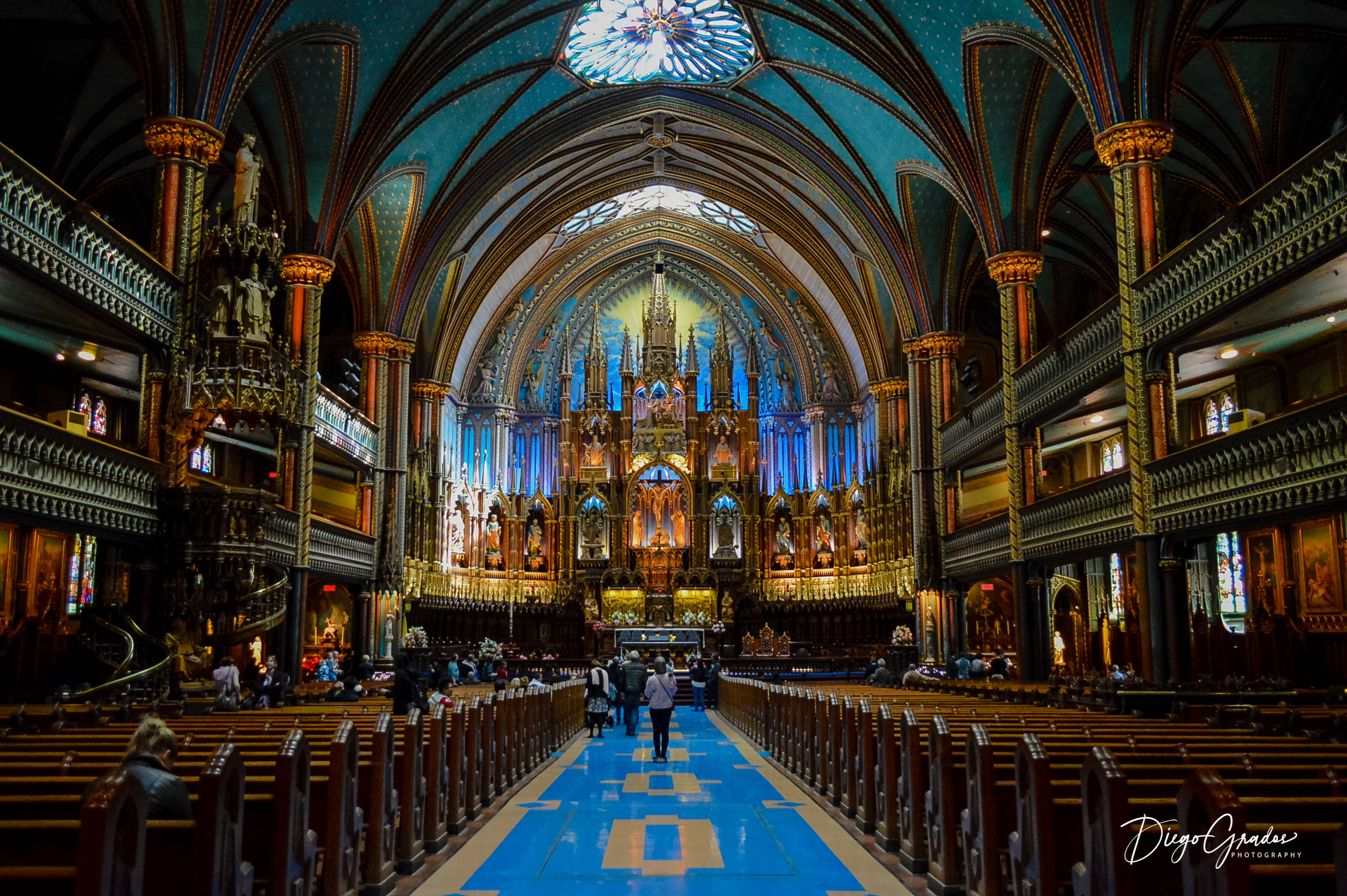 Basilique Notre-Dame de Montréal interior